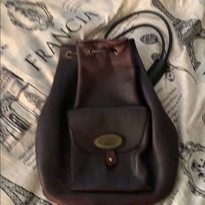 Vintage USA leather Troy purse backpack bag